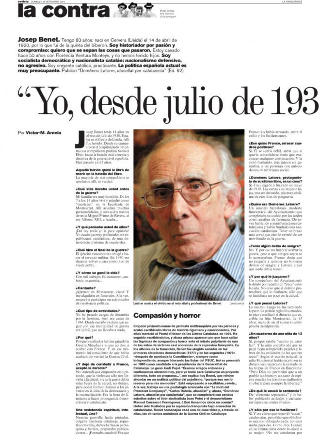 Josep Benet Net Worth